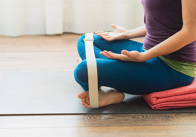 Iyengar Yoga Sitzposition
