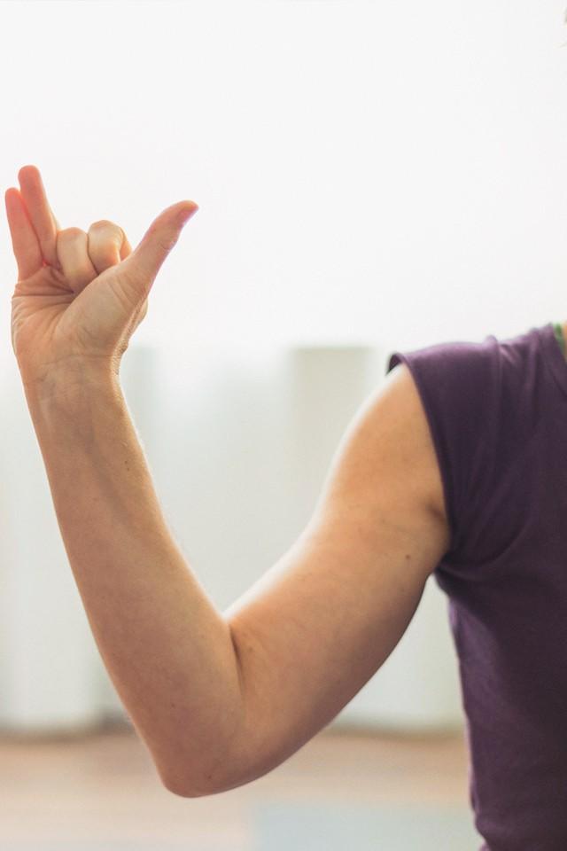 Pranayama Hand Position Beginn