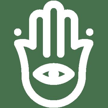 yoga ritual symbol hand mit auge